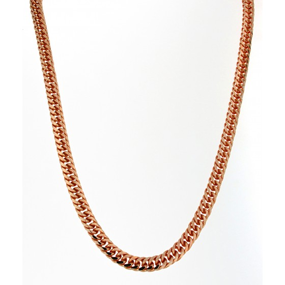 Necklace Double-Curb Chain Gold or Rosegold Plated or Doublé