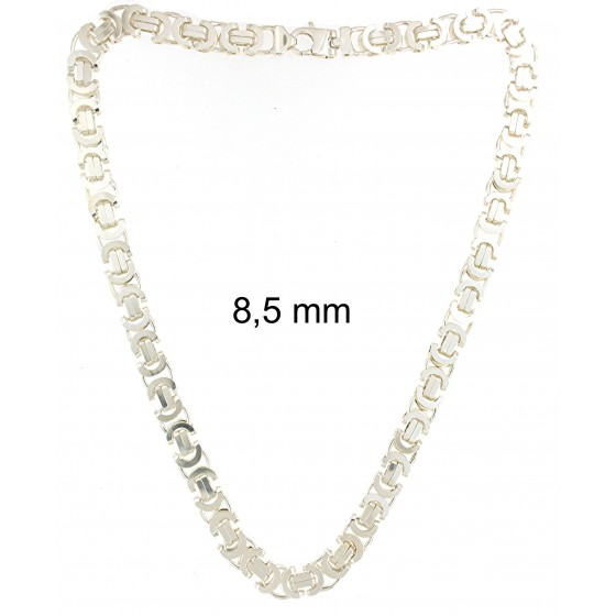 BYZANTINE Flat Chain Necklace Sterling Silver Men Women Jewellery Tendenze ITALY