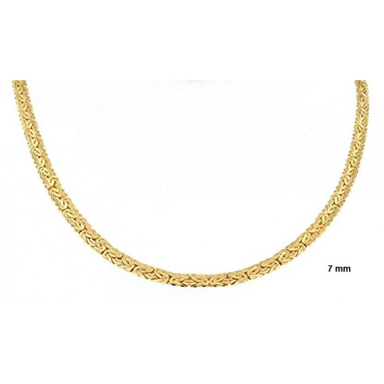 Necklace oval Byzantine Kings Chain Gold Plated