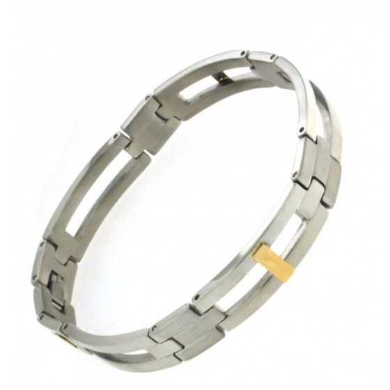 Mens Bracelet Stainless Steel Gold Gift New Jewellery From Italian Factory