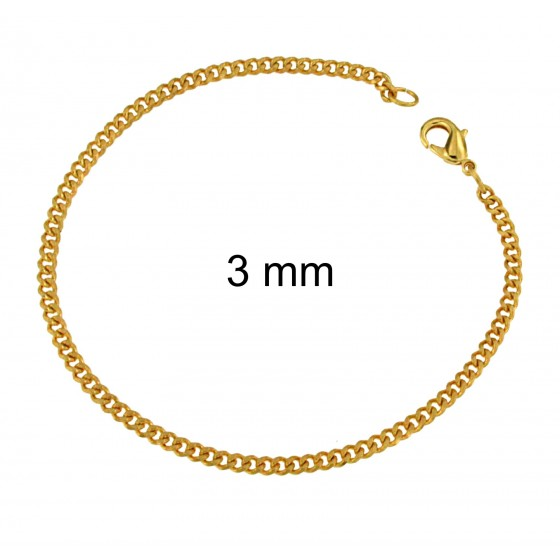 Curb Chain Bracelet Gold Doublé or Plated
