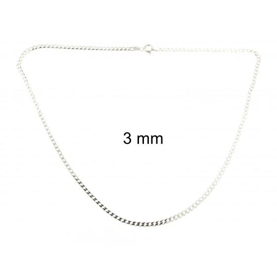 CURB CHIAN NECKLACE Sterling Silver Men Women Gift Jewellery From tendenze ITALY