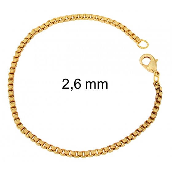 BRACELET Venetian BOX CHAINE Gold or Rose Doublé or plated Men Women Jewellery