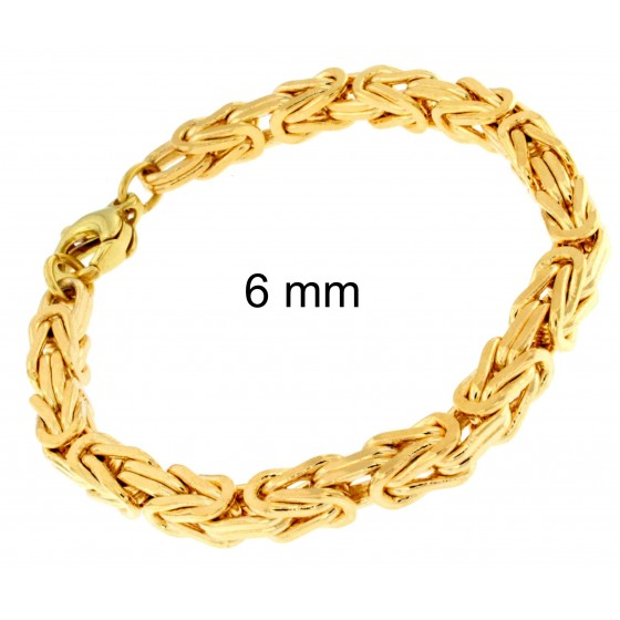 Bracelet Byzantine Gold Doublé or Plated Men Women Gift New Jewellery From ITALY