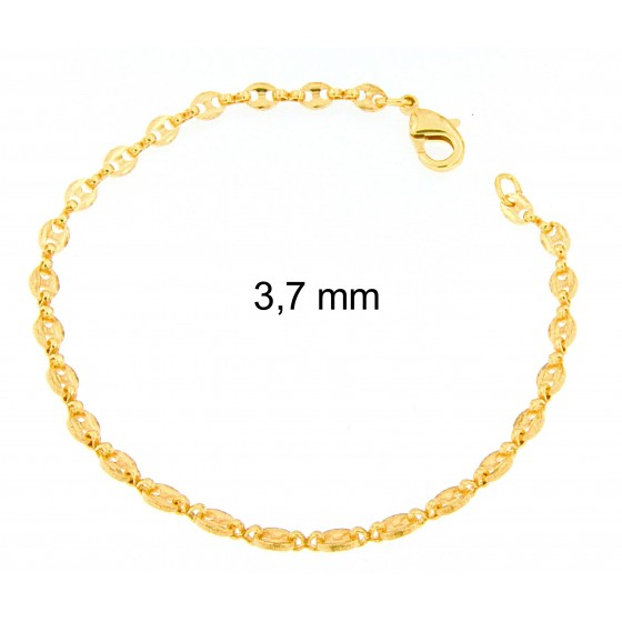 BRACELET Marina CHAIN Gold or Rose Gold Doublé or Plated Men Women Gift Jewelry