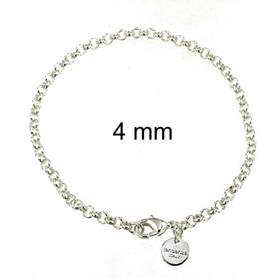 BELCHER BRACELET silver plated Mens Womens Gift Anklet Jewelry tendenze Italy