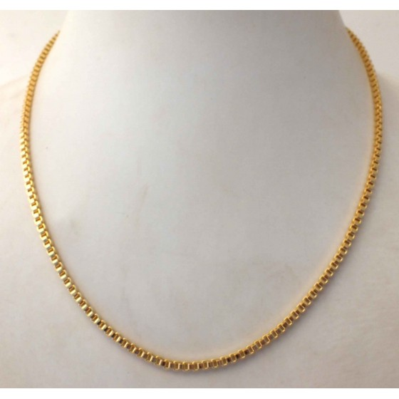 Venetian Box Chain Necklace Sterling Silver Gold Plated