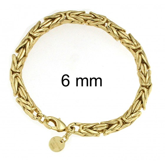 BRACELET Round Byzantine CHAIN Gold Doublé Or Plated Men Women Gift Jewellery