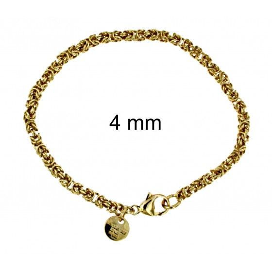 NECKLACE round Byzantine CHAIN Rose Gold Doublé Or Plated Men Women Jewellery