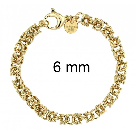 Bracelet round Byzantine CHAIN Gold Doublé Or Plated