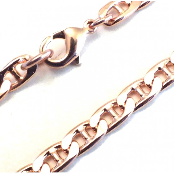 Curb Chain Bracelet Rose Gold Doublé or Plated