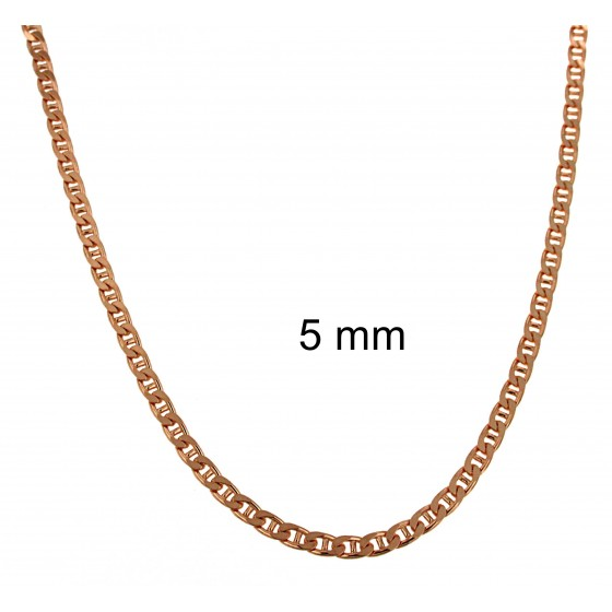 NECKLACE BAR CURB CHAIN Rose Gold Doublé or Plated