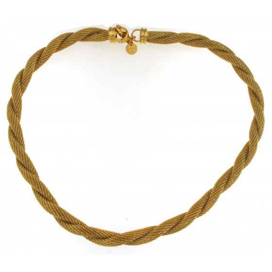 Rope Wheat Chain Necklace 18k Yellow Gold or Rose Gold Plated