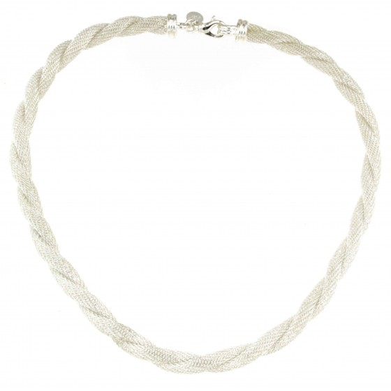 Rope Wheat Chain Necklace Silver Plated